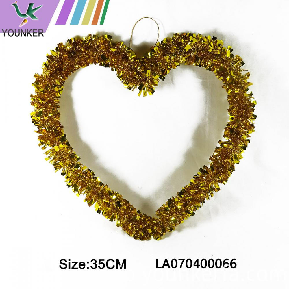 Heart Yellow Hang Ornament